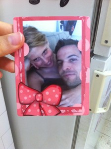 Romantic photo magnet ordered from iLove photos app!